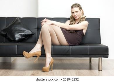 Tall long legged brunette bonita