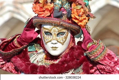 Woman wearing a costume in Venice carnival