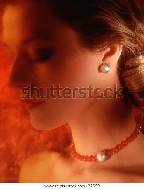 Woman wearing jewlery