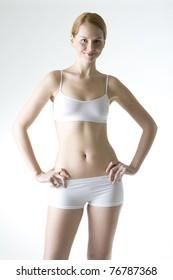 woman wearing underwear