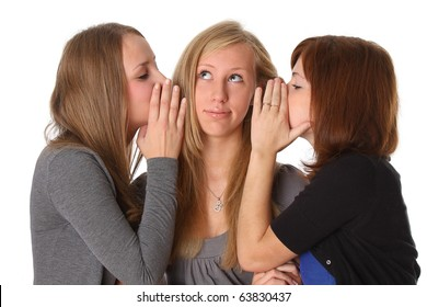 Woman whispers to the girlfriend secrets