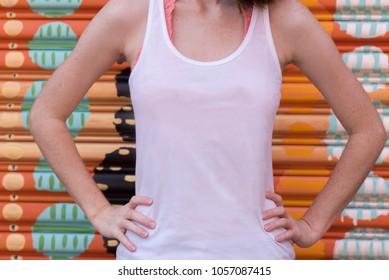 Woman in White Tank