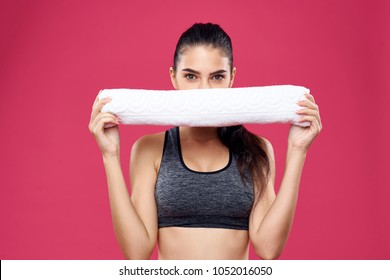 woman with a white towel