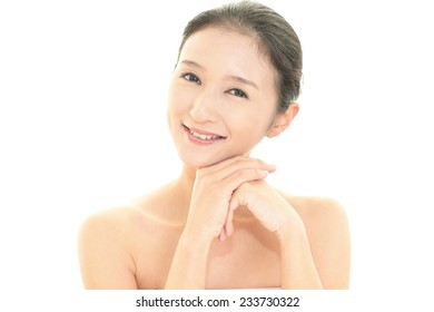 The woman who does skin care