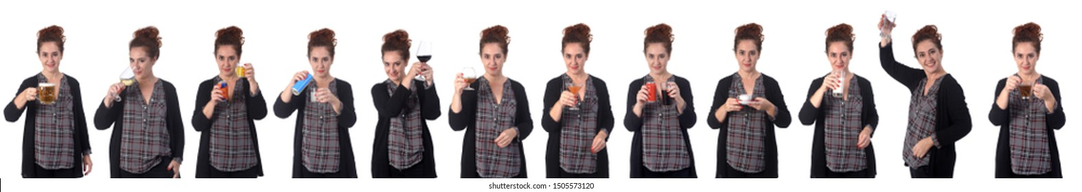 woman who drank different drinks