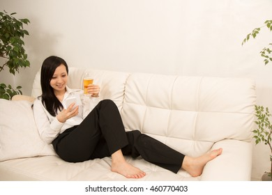 The woman who has beer