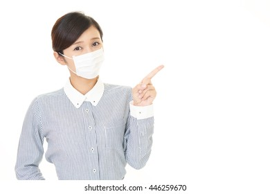 Woman who has a cold