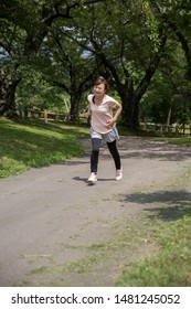 The woman who is in the park