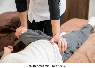 The woman who receives chiropractic treatment