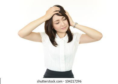 Woman who worries because of worthlessness feeling