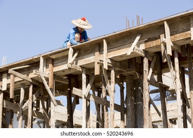 woman worker at construction site