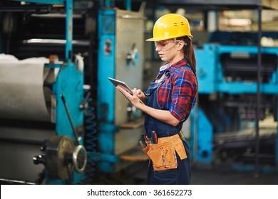 Woman worker in factory