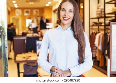 woman working in a fashion shop