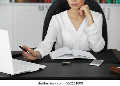 Woman working in modern office
