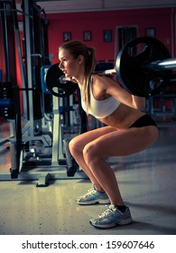 Woman working out in fitness - Active girl