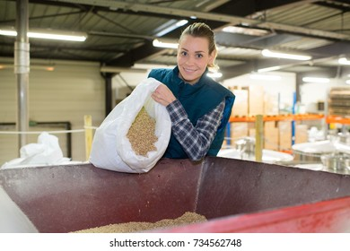 woman working with seeds