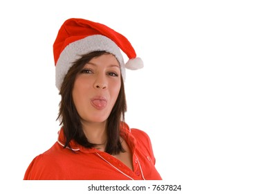 woman with xmas outfit