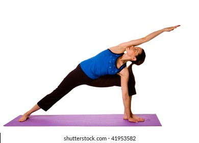 Woman in Yoga Position - Isolated Background