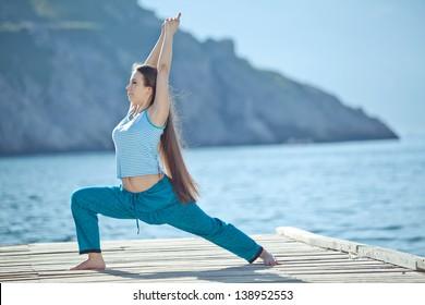 Woman yoga. Series