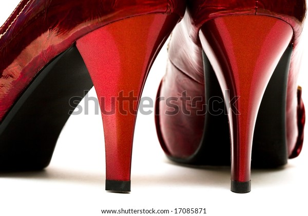 womanish shoes isolated on white background