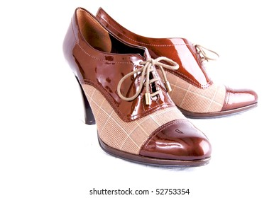 Woman's Business Shoes Isolated