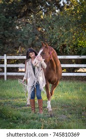 A woman's close friendship with her horse.