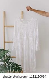 woman's dress on a hanger