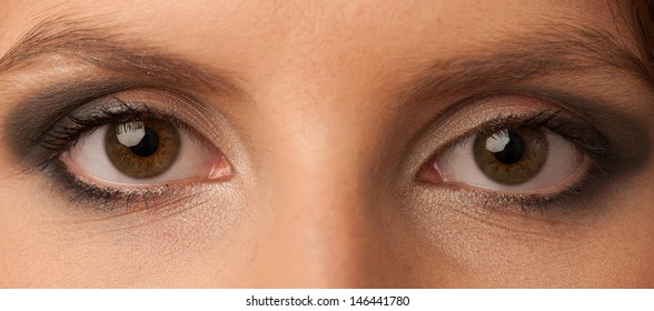 Woman's eyes with beautiful makeup