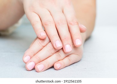 Womans hands with beautiful manicure. Well-groomed female hands.