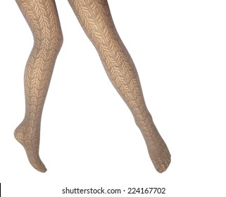 Woman's legs in lace tights
