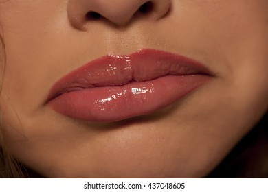 woman's mouth with a sad look