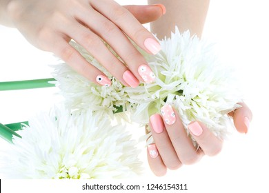 a woman's nail, designed with nail art