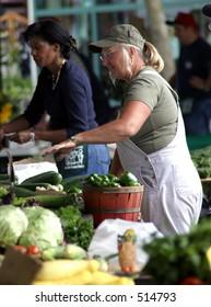 Women at Ann Arbor Farmers Market