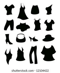 Women apparel silhouette