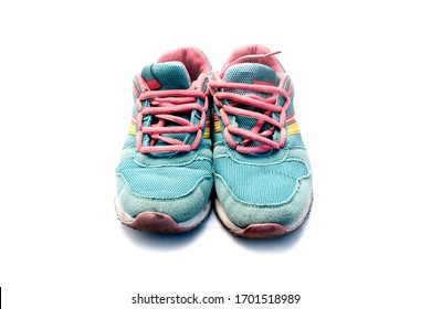 Women athletic shoes isolated on a white background.
