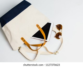Women bag and accessory  Fashion flat lay design concept background.