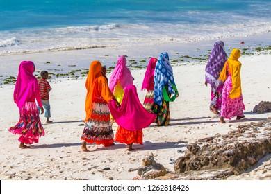 Women at The Beach Zanzibar