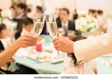 Women with champagne glasses