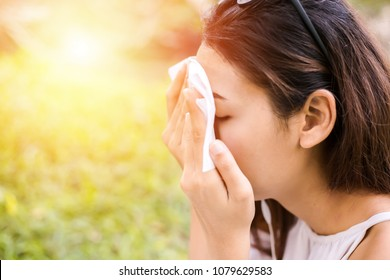 the women clean sweat on her face for clean skin face.