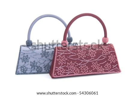 adabc281 Women Clutch Bags Isolated On White Stock Photo (Edit Now) 54306061 ...