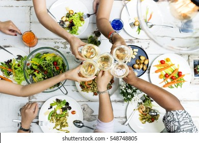 Women Communication Dinner Together Concept