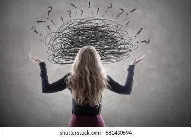 women with complicated problems and stress