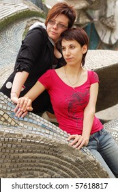 women couple outdoor