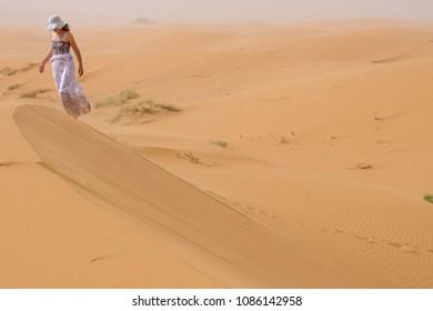 Women in desert