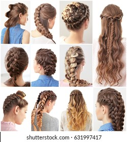 Women with different hairstyles