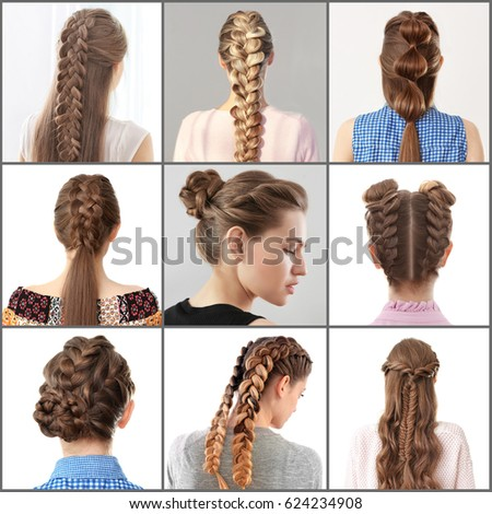 Women Different Hairstyles Stock Photo Edit Now 624234908