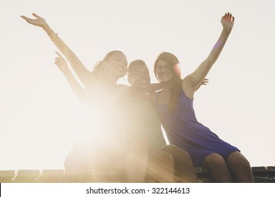 Women during a sunny day at the sea