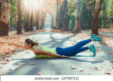 Women Exercising Outdoors, Park, Nature, High Intensity Interval Training