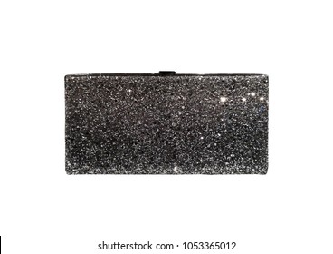women fashion accessories - luxury clutch on white background