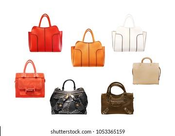women fashion accessories -  luxury, handbag on white background